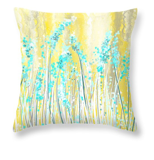 Throw Pillows Using Yellow And Gray Teal Turquoise Red And Gray