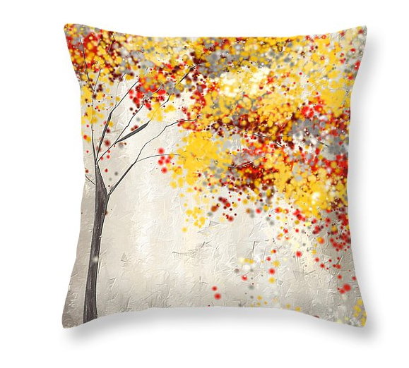Yellow And Red Decorative Pillows : Throw Pillows using Yellow and Gray, Teal, Turquoise, Red and Gray. - Lourry Legarde